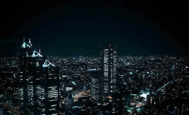 Tokyo Shinjiku vue de nuit